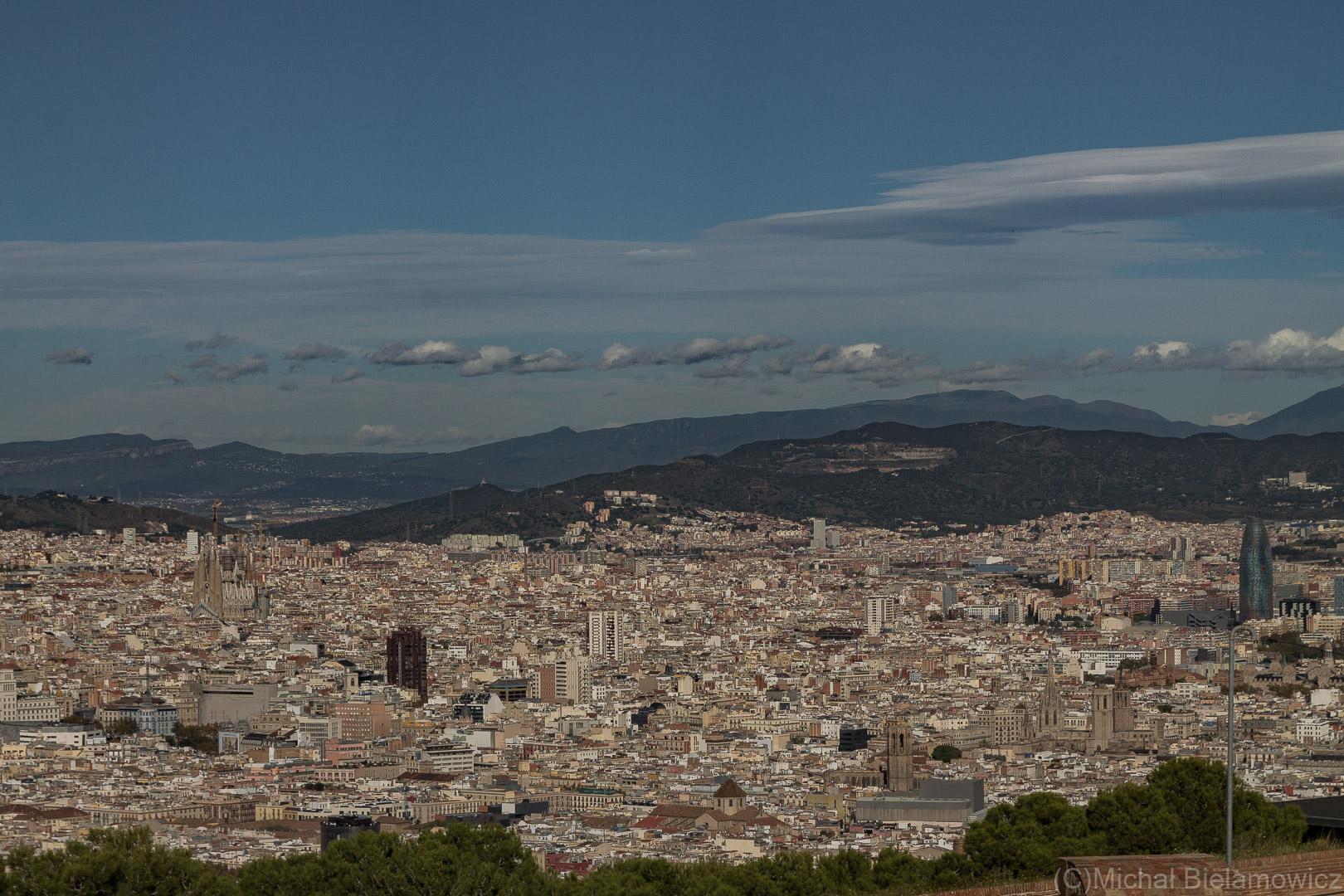Barcelona z góry (z Montjuïc)