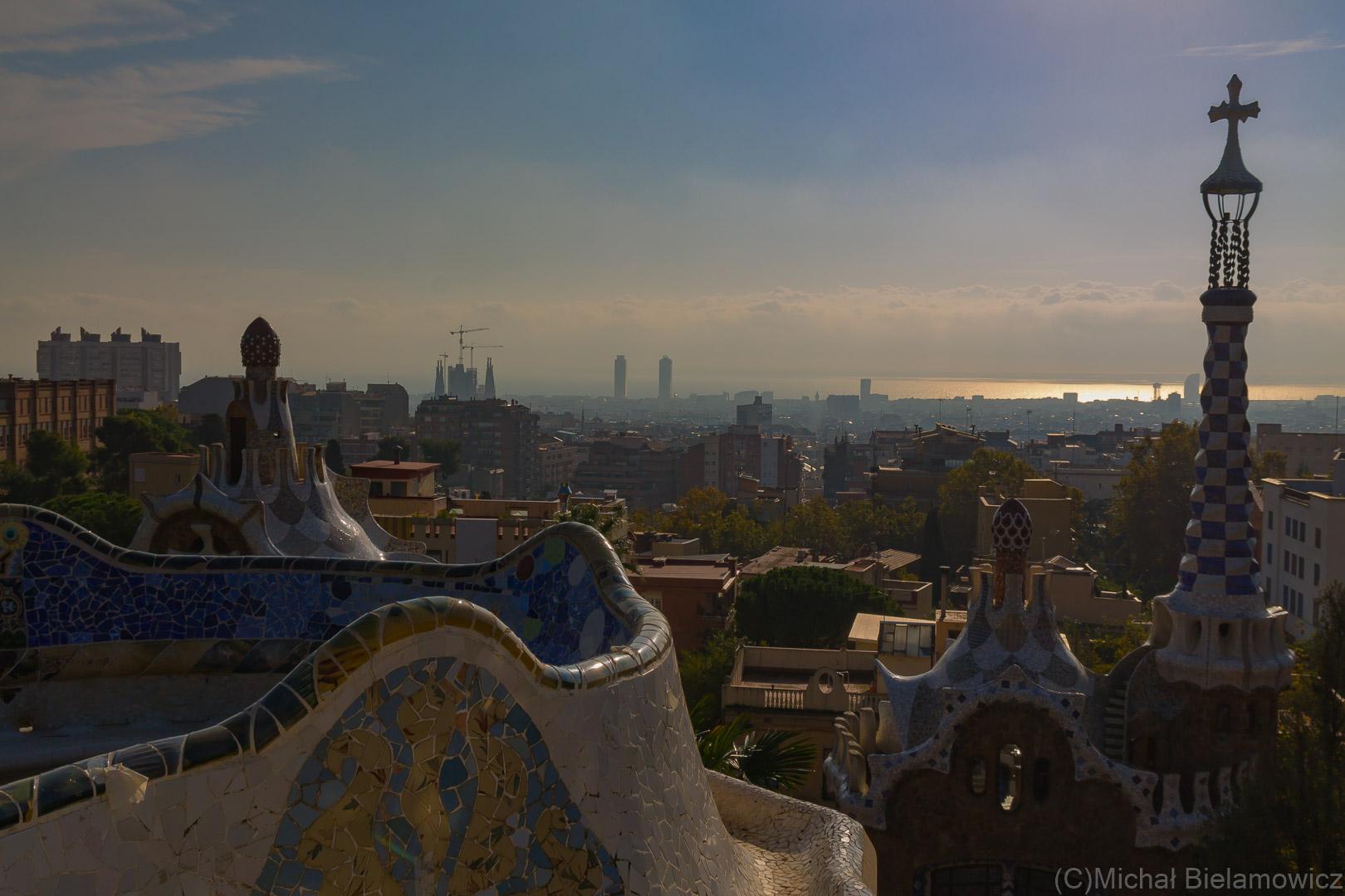 Park Güell - widok na Barcelonę