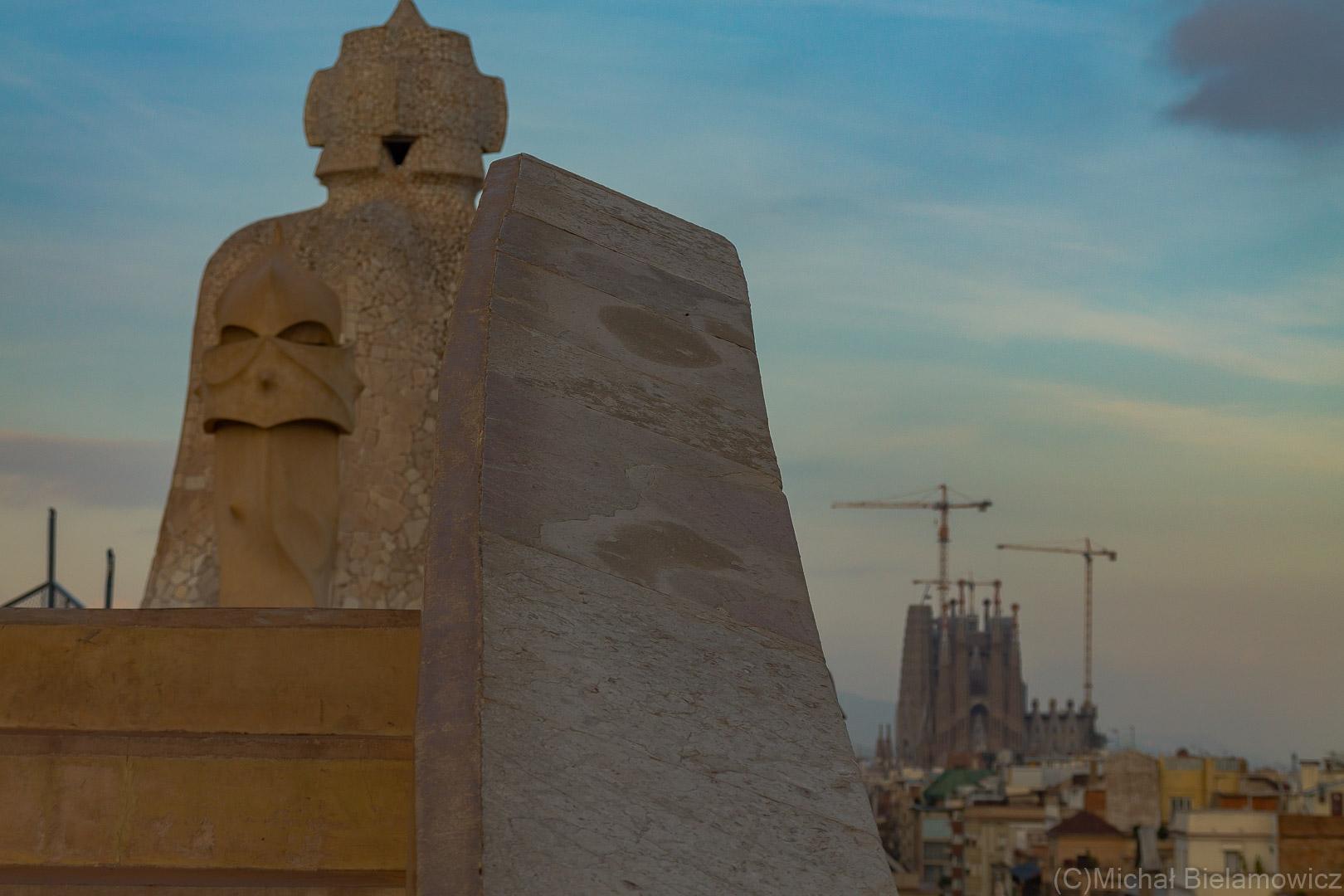La Pedrera (Casa Milà) widok z dachu